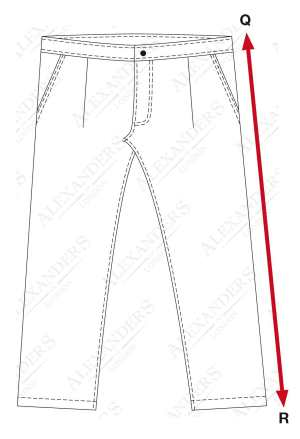 Outseam Measurement Mens AOL101 Country Co...