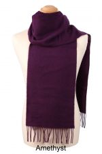 Mens Lambswool Plain Scarf