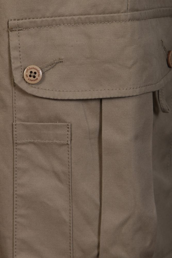 Mens Cargo Trousers Taupe 4084 Trousers Alexanders Of London