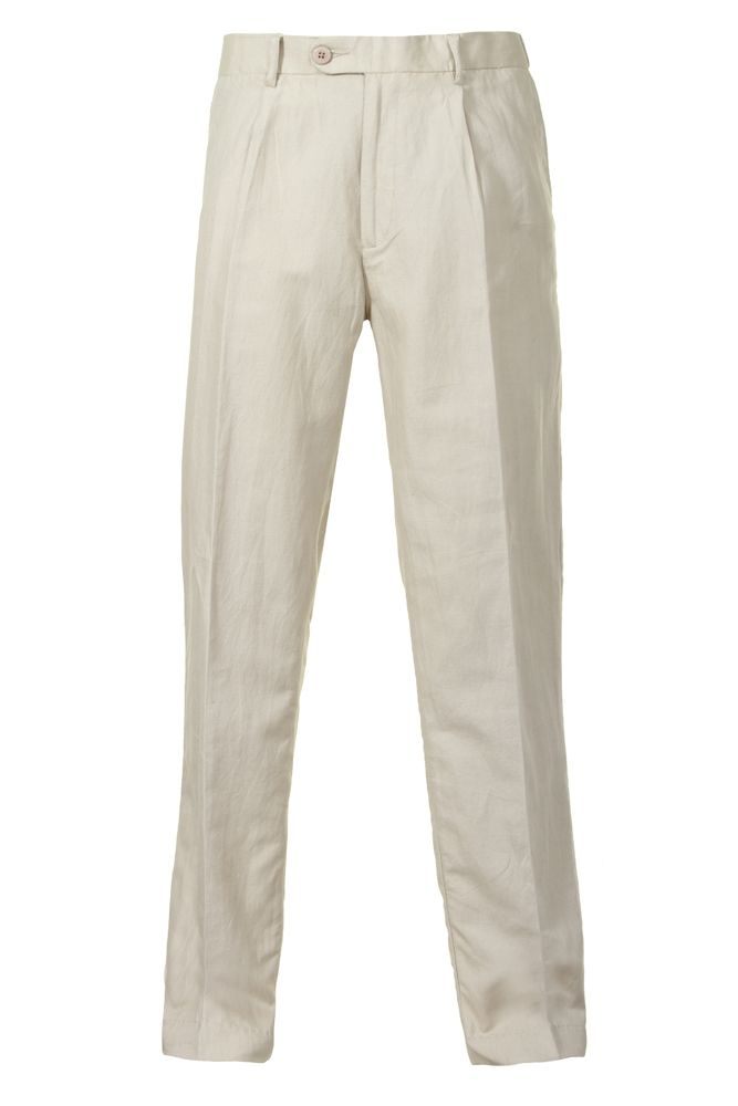 43c1eb6e0c Mens Linen Trousers Beige, Linen Clothing Alexanders of London