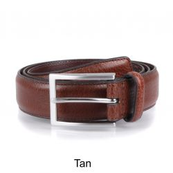 Mens Textured Leather Belt