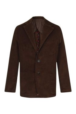 Mens Corduroy Jacket Dark Chocolate (A012)