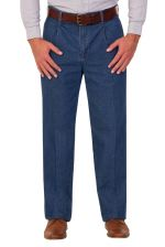Mens Single Pleated Denim Chino (A016)
