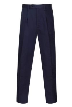 Mens Linen Trousers Navy (5042)