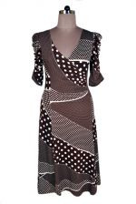 Alexanders of London Style 4351 Viscose Lycra Dress Print brown