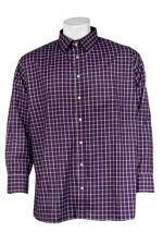Cotton/polyester Casual Check Shirt