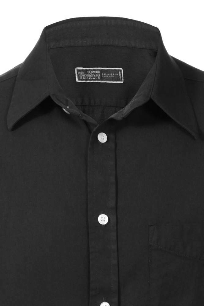 fine cotton twill shirt dark grey shirts alexanders of london